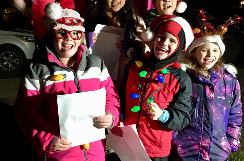 Kids from SAM After-School Program Help Open Three Oaks Christmas Season